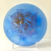 A Wells Studio Rare Fused Art Glass Plate by Higgins 1950s Alternate image