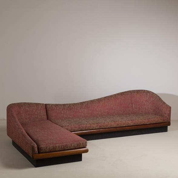 An Adrian Pearsall for Craft Associates Two Part Sofa 1950s