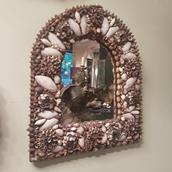 An Arch Shell Encrusted Mirror main image