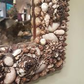 An Arch Shell Encrusted Mirror Alternate image