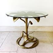 An Arthur Court Gilded Centre Table with Glass Top 1960s Alternate image
