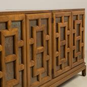 An Asian Modern Four Door Cabinet by Renzo Rutilil 1960s Alternate image