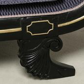 An Ebonised Regency Chaise Longue circa 1820 Alternate image