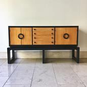 An Ebonised and Wooden Cabinet  by Americraft 1970s main image