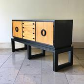 An Ebonised and Wooden Cabinet  by Americraft 1970s Alternate image