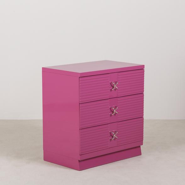 An Orchid Lacquered American of Martinsville designed Commode 1960s