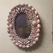 An Oval Shell Encrusted Mirror main image