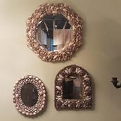 An Oval Shell Encrusted Mirror Alternate image