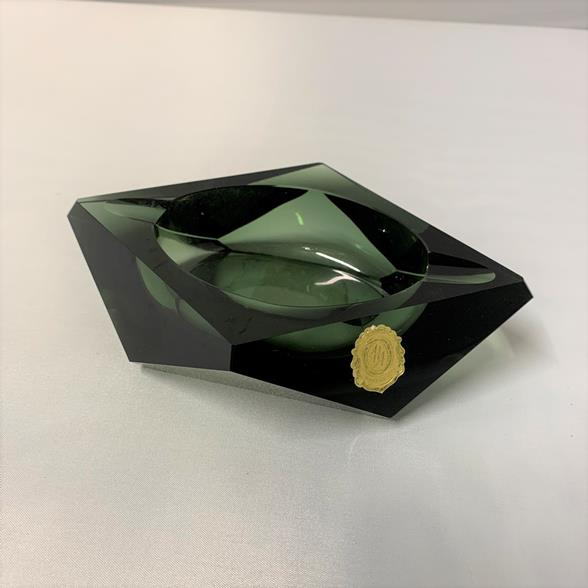 An Unusual Angular Glass Ashtray