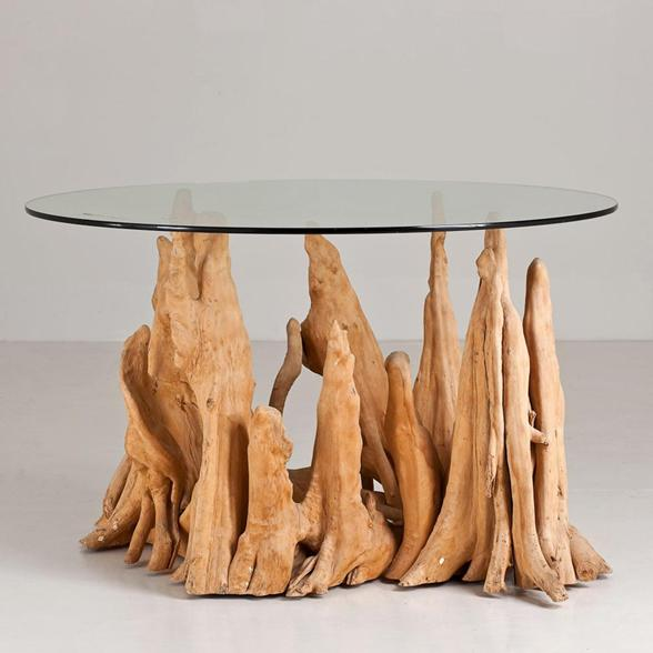 An Unusual Cyprus Root Table Base 1960s