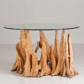 An Unusual Cyprus Root Table Base 1960s main image