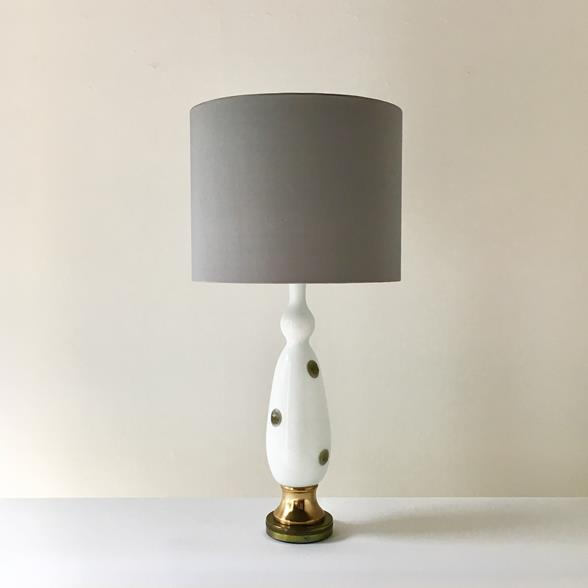 Elegant Single Opaque Murano Glass Table Lamp 1970s