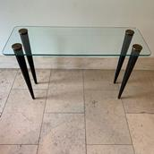 Glass Topped Console in the manner of Gilbert Rohde Alternate image