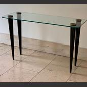 Glass Topped Console in the manner of Gilbert Rohde main image