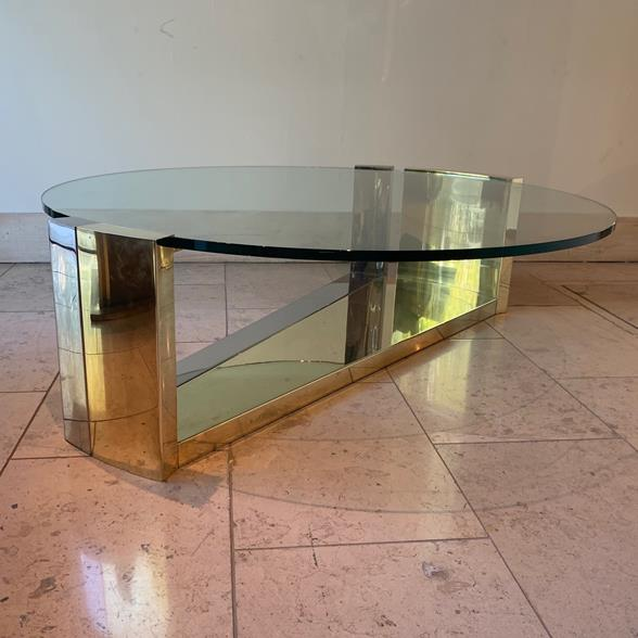 Incredible Brass and Steel Based Coffee Table