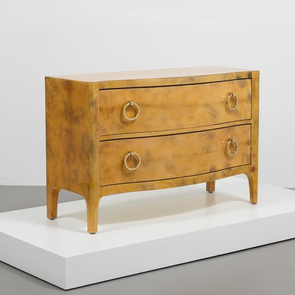 Lacquered goatskin commode 1970s