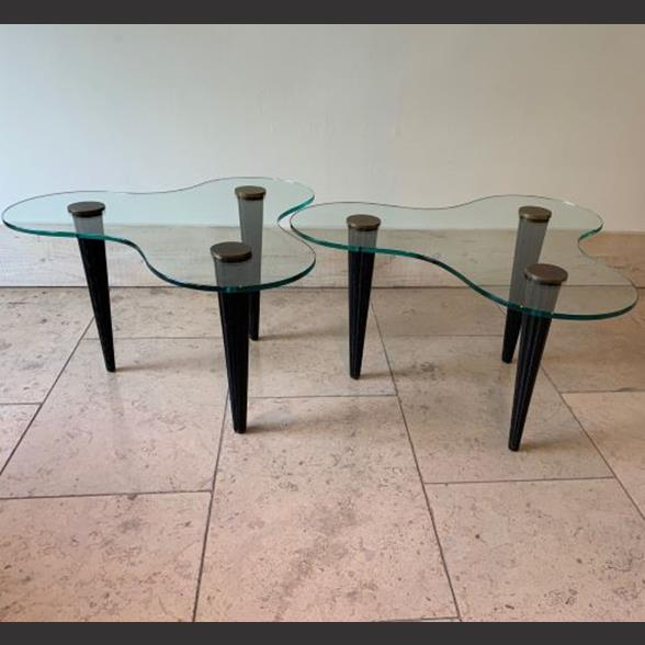 Pair of Biomorphic Side Tables in the manner of Gilbert Rohde