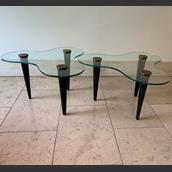 Pair of Biomorphic Side Tables in the manner of Gilbert Rohde main image