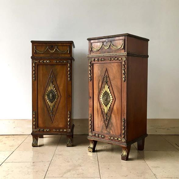Pair of Irish Regency Mahogany Pedestals circa 1820