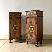 Pair of Irish Regency Mahogany Pedestals circa 1820 main image