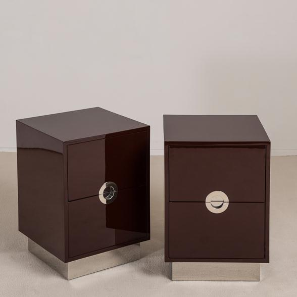 Pair of Lacquered Porthole Bedside Cabinets by Talisman Bespoke