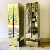 Pair of Totem Cityscape Cabinets by Paul Evans 1970s Alternate image