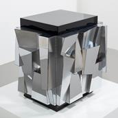 Paul Evans designed Chrome Cabinet 1970 Alternate image