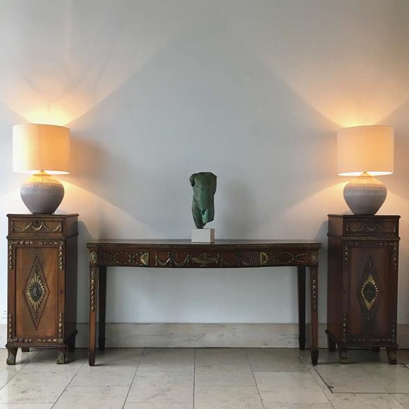 Regency Mahogany Irish Console Table circa 1820