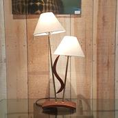 Single Teak Double Shaded Lamp 1950s main image