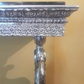 Swedish Empire Silverleafed Dolphin Console Table circa 1820 Alternate image
