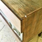 Swedish Six Drawer Walnut Cabinet by Edmond Spence 1950s Alternate image
