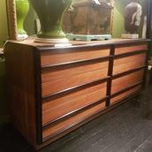 TH Robsjohn Gibbings designed Eight Drawer Commode 1950s  Alternate image