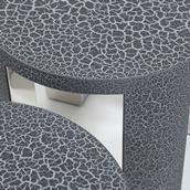 The Circular Crackle Side Tables by Talisman Bespoke  Alternate image