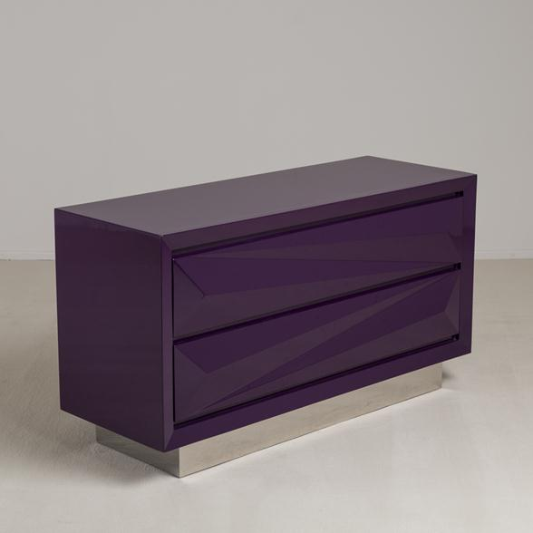 The Lacquered Asymmetrical Commode by Talisman Bespoke